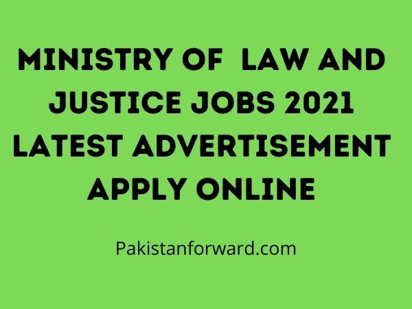 Ministry of  Law and Justice Jobs 2021 Latest Advertisement Apply Online