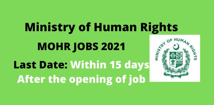 MOHR jobs 2021
