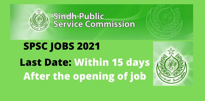 Latest SPSC Jobs 2021 Advertisements | Apply Online