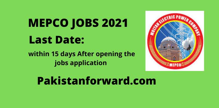 MEPCO Jobs 2021 latest Advertisement, Apply Online