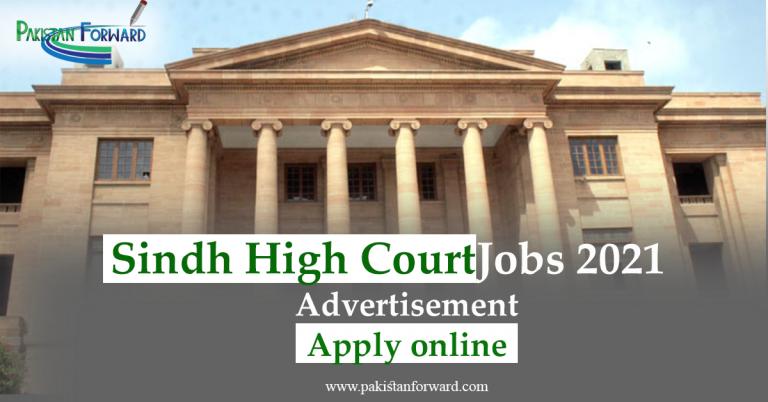 Sindh High Court Jobs 2021 Advertisement by SHC, Apply Online