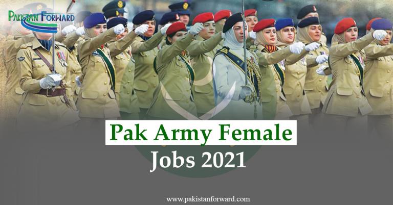 Latest Pak Army Female Jobs 2021, Application form