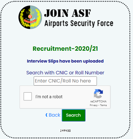 ASF Call latter 2021