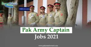 pak army captain jobs